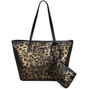 NINE WEST Leopard Go-to-Glamour Tote & Wristlet